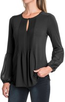 August Silk Pintuck Shirt - Rayon, Long Sleeve (For Women)