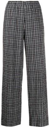 Aspesi Checked Flared Trousers