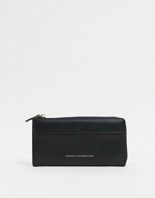 French Connection Faux Leather Large Zip Around Ladies' wallet
