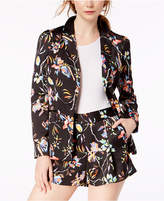 Bar III Prism Lilies-Printed Blazer, Created for Macy's