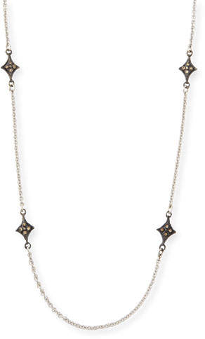 Armenta New World Crivelli-Station Necklace with Champagne Diamonds