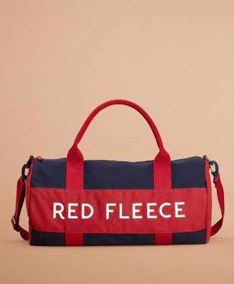 Brooks Brothers Red Fleece Canvas Duffle Bag