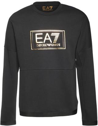 EA7 Emporio Armani Logo Cotton Blend Sweatshirt