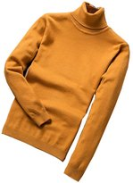 WHENOW Men's Basic Knitted Turtleneck Slim Fit Pullover Solid Sweater
