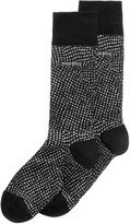 HUGO BOSS Men's Pin-Dot Dress Socks