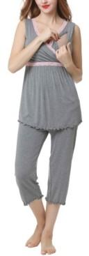 Kimi + Kai Kimi & Kai Penny Maternity Nursing Pajama Set