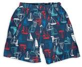 I Play Sailboat Trunks with Built-In Swim Diaper in Navy
