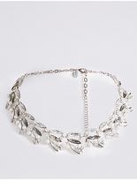 M&S Collection Crystal Leaf Collar Diamanté Necklace