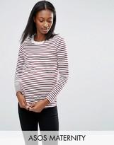 Asos Stripe Crew Neck Long Sleeve T-Shirt