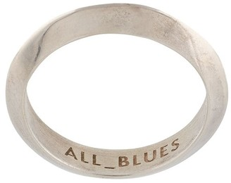 All Blues Sculpted Triangle Ring