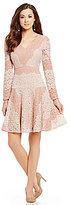 Antonio Melani Folince Two-Tone Lace Dress