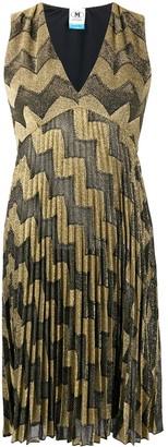 M Missoni Striped Knitted Mini Dress