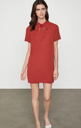 BCBGMAXAZRIA Tie Neck Shirt Dress