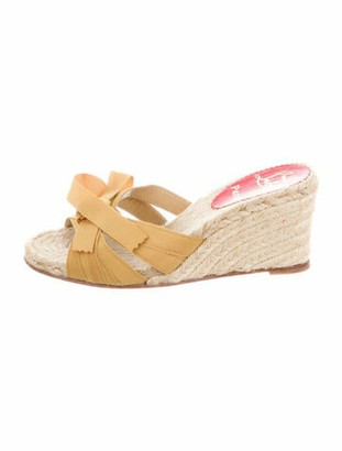 Christian Louboutin Bow Accents Espadrilles Yellow