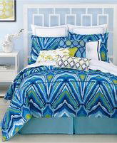 Trina Turk Blue Peacock King Comforter Set