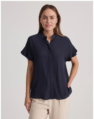 Basque Frill Sleeve Shirt