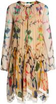 Chloé Abstract-print silk-georgette dress