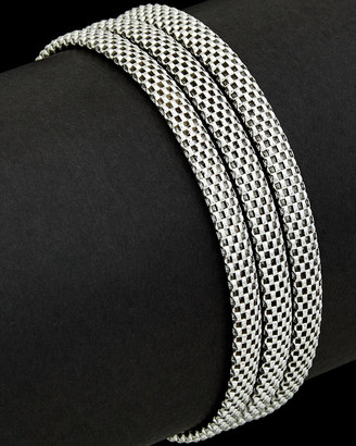Italian Silver Cage Link Bracelet