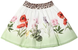 MonnaLisa FLOWERS PRINT COTTON MUSLIN SKIRT