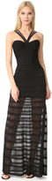 Herve Leger Waverly Halter Gown