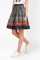 French Connection Lila Tile Linen Flared Skirt