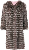 Simonetta Ravizza striped fur coat