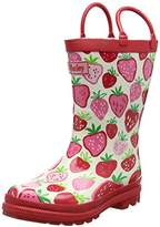 Hatley Rainboots -Strawberry Sundae, Girls' Rain Boots,12 Child UK (30 EU)