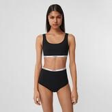 Thumbnail for your product : Burberry Logo Tape Bio-baed tretch Nylon Bikini