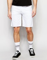 Diesel Denim Shorts Bustshort Straight Fit In White
