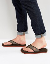The North Face Base Camp Flip Flop in Brown & Orange