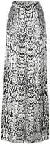 ADAM by Adam Lippes Ocelot velvet palazzo trousers