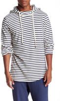 Velvet by Graham & Spencer Hooded Striped Mock Neck Pullover