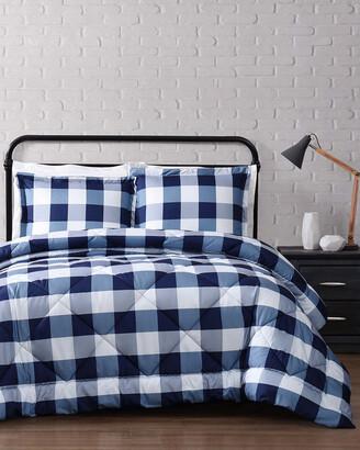 Truly Soft Everyday Buffalo Plaid Navy Comforter Set