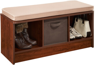 ClosetMaid Cubeicals 3-Cube Storage Bench With Tan Cushion