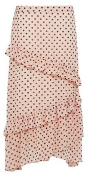 Dorothy Perkins Womens Blush Spot Print Midi Skirt