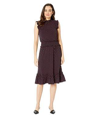MICHAEL Michael Kors Sliced Dot Smocked Waist Dress