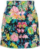 MSGM flower print mini skirt