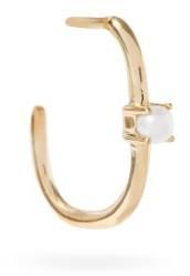 Otiumberg Recycled 9kt-gold & Pearl Single Hoop Earring - Pearl