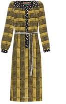DURO OLOWU Harlem Deco-print crepe dress