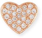 Ef Collection Diamond Heart Single Stud Earring