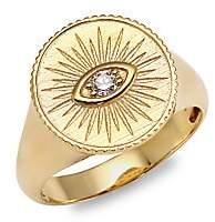 Sydney Evan Women's 14K Yellow Gold & Diamond Marquis Eye Ring