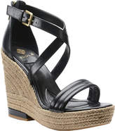 Isola Women's Yalena Ankle Strap Platform - Black Mini Dot Kid Suede Sandals
