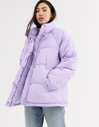 Weekday Felicity puffer jacket in lilac