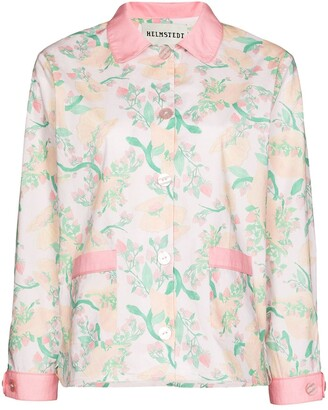 Helmstedt Floral Print Pajama Shirt