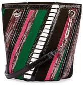 Proenza Schouler Hex Mini Mixed-Media Bucket Bag, Black/Multi