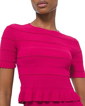 MICHAEL Michael Kors Ruffled Textured Top