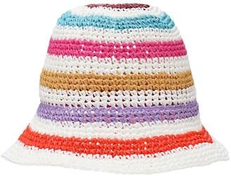 Missoni Crochet Raffia Hat
