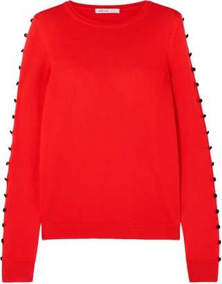 ADEAM Button-embellished Silk Sweater