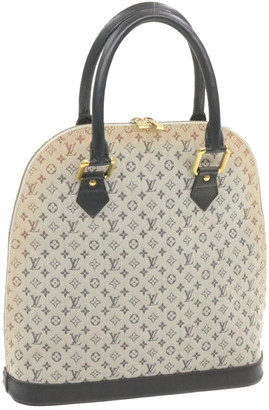 Louis Vuitton Alma Blue Cloth Handbags