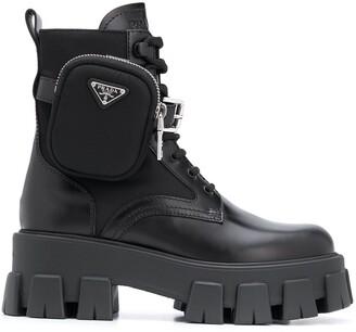 Prada Belted Combat Boots